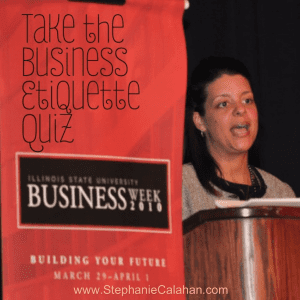 Business Etiquette Quiz