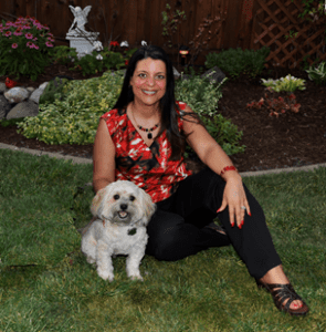 Stephanie Calahan Business Vision Catalyst and Danny Havanese Dog