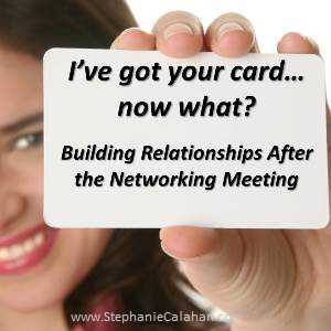Effective business networking - turning connections into relationships