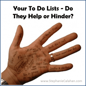 To Do Lists and Task Lists