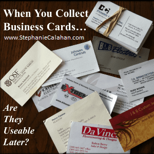 Business Card Organization
