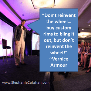 dont reinvent the wheel vernice armour business tips