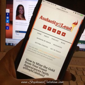 How to Mine the Gold from Your Guest Appearances on the Audacity2Lead Show