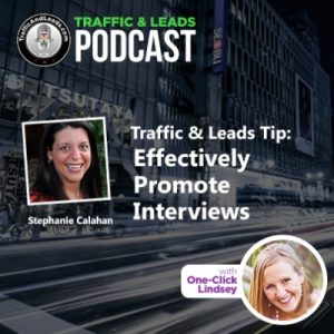 Traffic & Leads: Effectively Promote Interviews